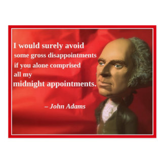 Naughty Presidential Valentine: Appointments Postcard