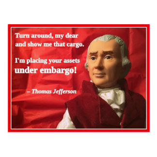 Naughty Presidential Valentine: Embargo Postcard