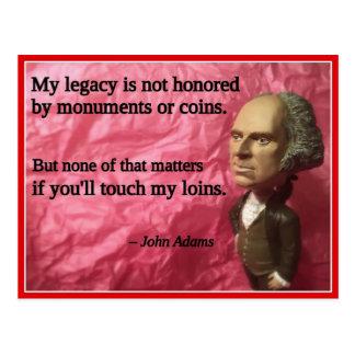 Naughty Presidential Valentine: Monuments Postcard