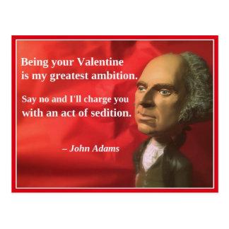 Naughty Presidential Valentine: Sedition Postcard