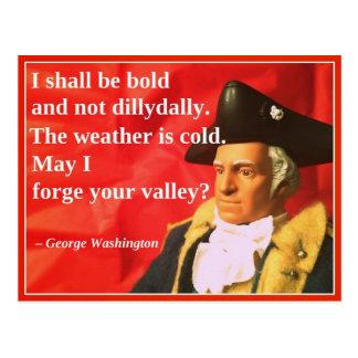 Naughty Presidential Valentine: Valley Forge Postcard