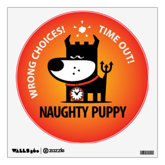 Naughty Puppy Wall Stickers