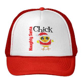 Naughty Santa Chick Trucker Hat