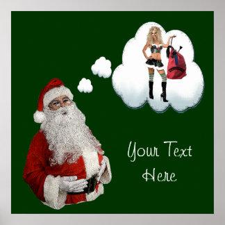 Naughty Santa Poster