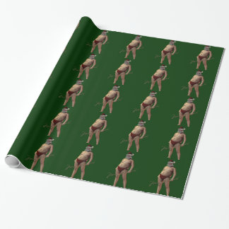 Naughty Santa Gift Wrapping Paper