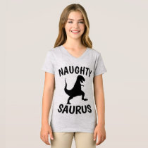 NAUGHTY SAURUS Funny Girls T-shirts