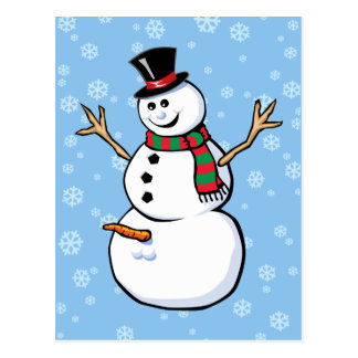 Naughty Snowman Post Cards