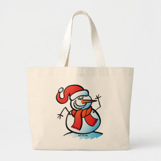 Naughty Snowman Tote Bags