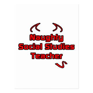 Naughty Social Studies Teacher Postcard