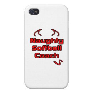Naughty Softball Coach iPhone 4 Covers