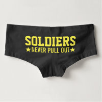 Naughty Soldier's Wife | Soldiers Never Pull Out Boyshorts