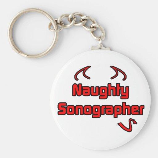 Naughty Sonographer Basic Round Button Keychain