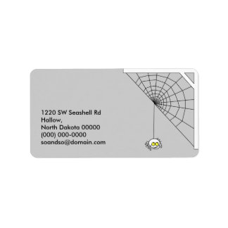 Naughty Spider Address Label Landscape 1
