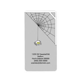 Naughty Spider Address Label Portrait 1
