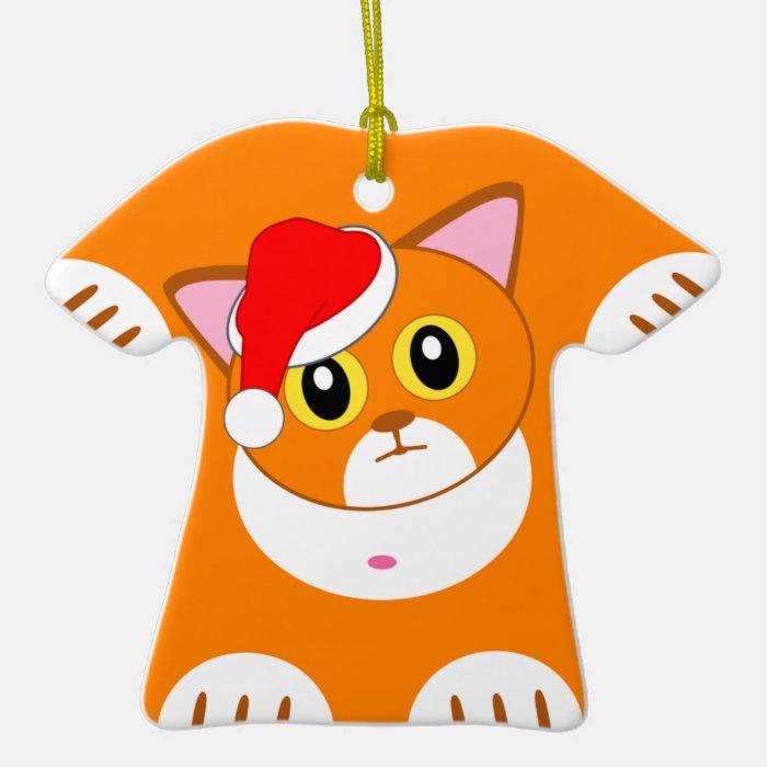 Naughty Tabby Kitten Ceramic Ornament