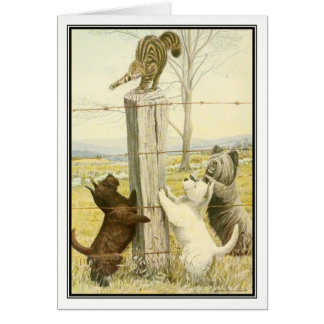 Naughty Terriers by Louis Agassiz Fuertes Card