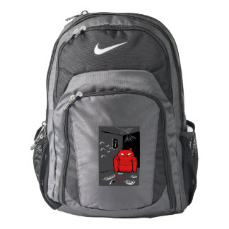 Naughty transformed cat nike backpack
