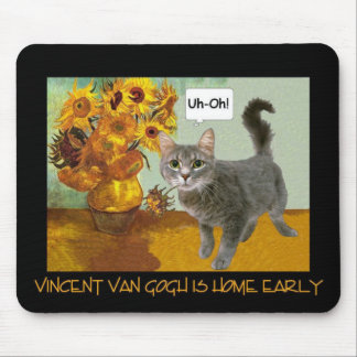 Naughty Van Gogh Cat 3 Mouse Pad