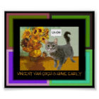 Naughty Van Gogh Cat 3 Poster