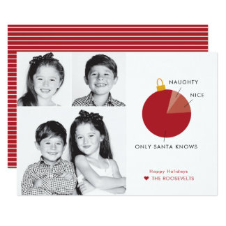 Naughty versus Nice Infographic Christmas Cards