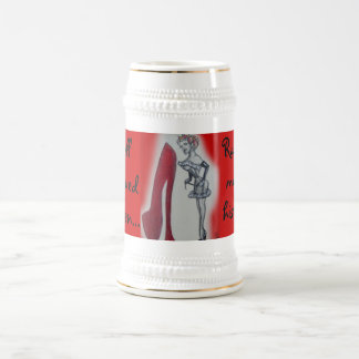 Naughty Wife Pin-up 18 Oz Beer Stein