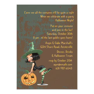 "Naughty Witch Invitation 5"" X 7"" Invitation Card"