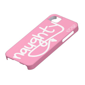 naughty with devil's tail - bubblegum pink iPhone 5 cover