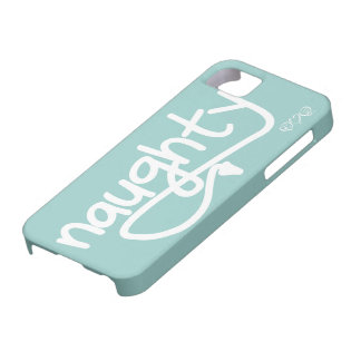 naughty with devil's tail - wavecrest blue iPhone 5 case