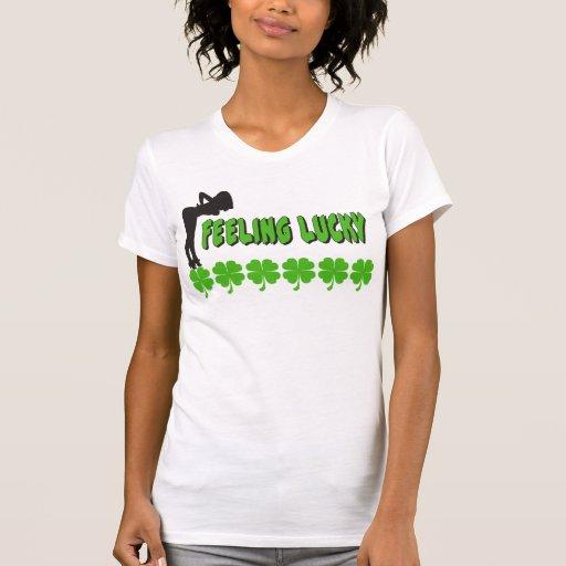 Naughty Women's Feeling Lucky Irish T-Shirt T-shirts