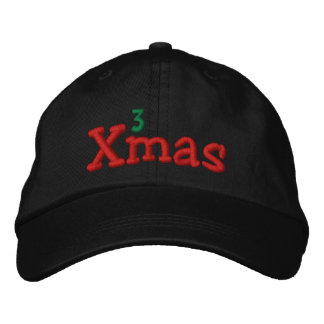 Naughty Xmas Embroidery Embroidered Hat