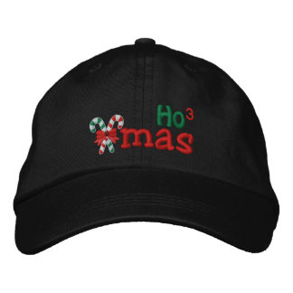Naughty Xmas HO3 Candy Canes Embroidery Embroidered Hat
