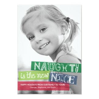 NaughtyIs las nuevas Niza tarjetas de la foto del Invitación 12,7 X 17,8 Cm