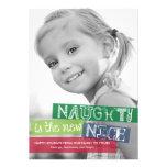 NaughtyIs The New Nice Holiday Photo Cards Custom Invitation