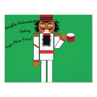 NaughtyNutcracker 4.25x5.5 Paper Invitation Card