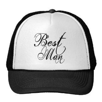 Naughy Grunge Script - Best Man Black Trucker Hat