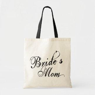 Naughy Grunge Script - Bride s Mom Black Tote Bag