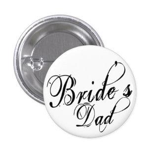 Naughy Grunge Script - Bride's Dad Black Pins
