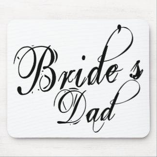 Naughy Grunge Script - Bride's Dad Black Mouse Pad