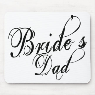 Naughy Grunge Script - Bride's Dad Black Mousepad