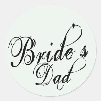 Naughy Grunge Script - Bride's Dad Black Sticker