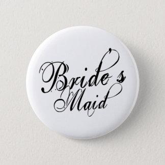 Naughy Grunge Script - Bride's Maid Black Button