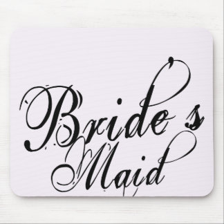 Naughy Grunge Script - Bride's Maid Black Mouse Pad