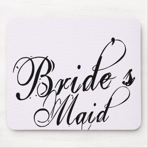 Naughy Grunge Script - Bride's Maid Black Mousepads