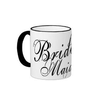 Naughy Grunge Script - Bride's Maid Black Mug
