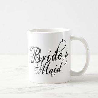 Naughy Grunge Script - Bride's Maid Black Mugs
