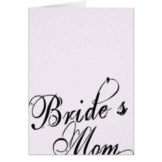 Naughy Grunge Script - Bride's Mom Black Card