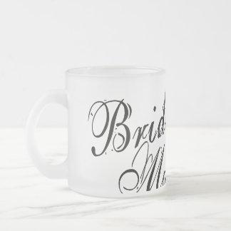 Naughy Grunge Script - Bride's Mom Black Frosted Glass Coffee Mug