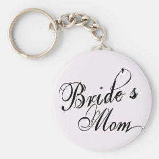 Naughy Grunge Script - Bride's Mom Black Keychain