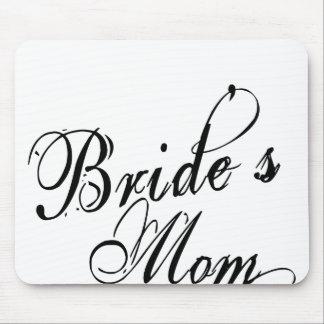 Naughy Grunge Script - Bride's Mom Black Mouse Pad