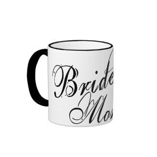 Naughy Grunge Script - Bride's Mom Black Ringer Mug